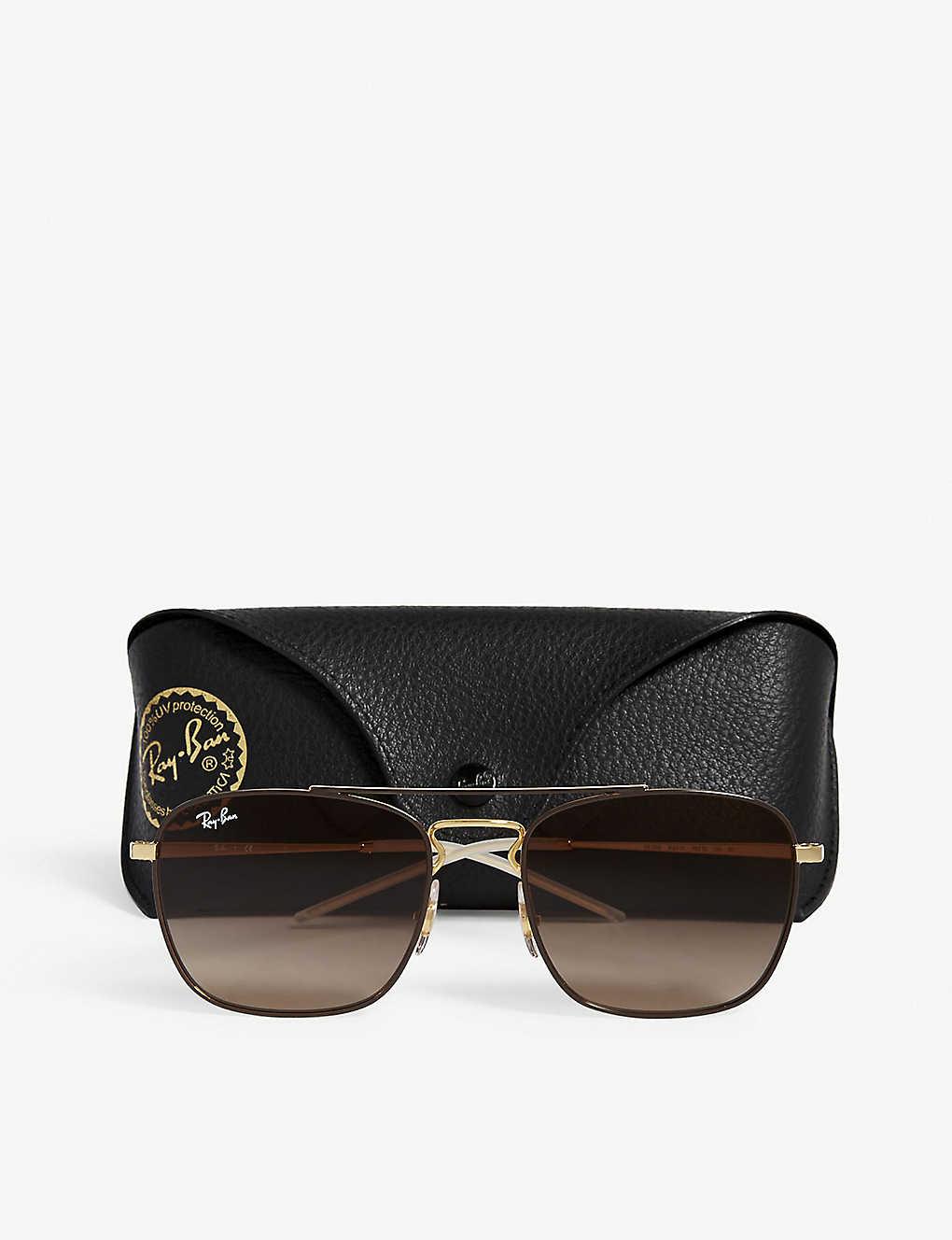 10b71e84bf424 ... Rb3588 square-frame sunglasses - Brown ...