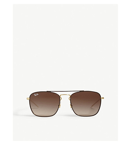 895df2ea3a1 ... RAY-BAN Rb3588 square-frame sunglasses (Brown. PreviousNext