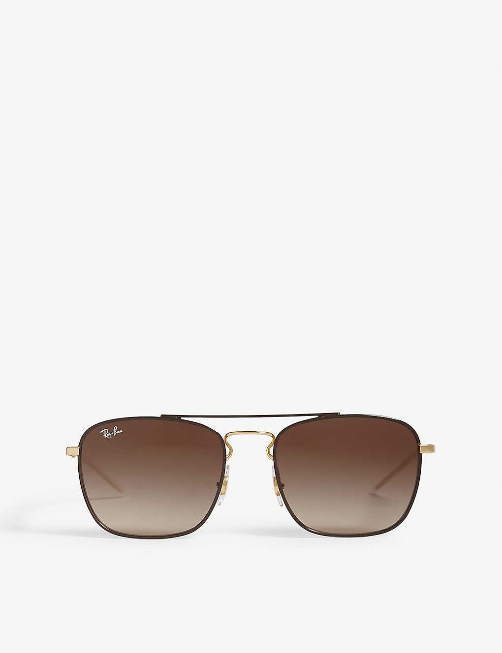 26a0f5dd786e8 Rb3588 square-frame sunglasses - Brown ...