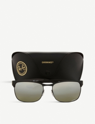 aa0be2e5ee Ray Ban Rb8319 Rectangle-Frame Sunglasses In Black