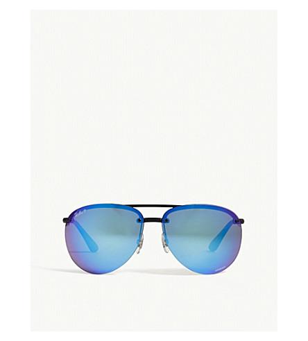 38f19271a29 RAY-BAN Rb4293 Chromance aviator-frame sunglasses (Black