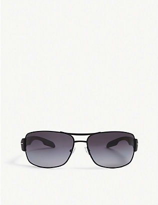 PRADA LINEA ROSSA: PS 53NS square-framed plastic sunglasses