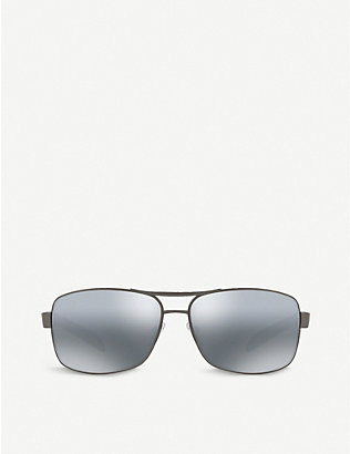 PRADA LINEA ROSSA: PS 54IS polarised rectangle-frame sunglasses