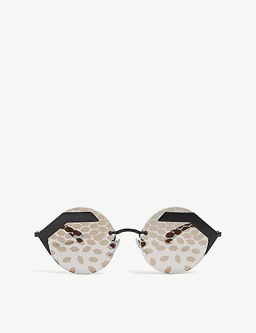 258fd035ab7 BVLGARI Bv6089 round-frame sunglasses