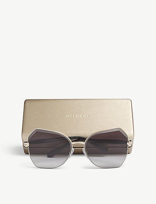 0c028c54d7ee3 BVLGARI Bv6102b irregular-frame sunglasses