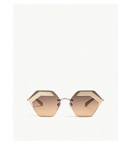 5a50e100ef2ae BVLGARI Bv6103 irregular-frame sunglasses (Gold