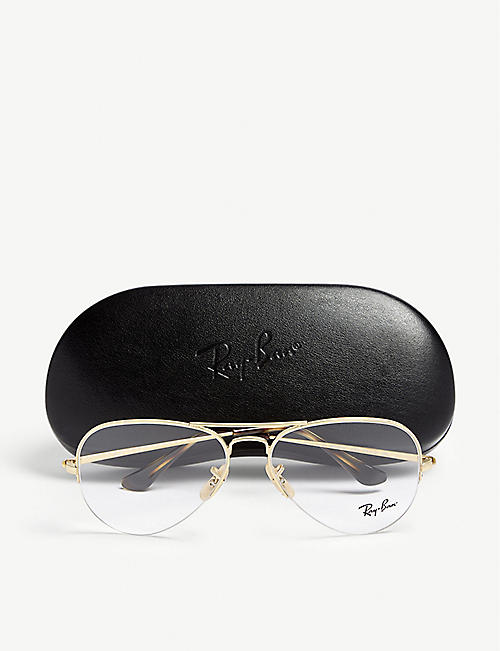 RAY-BAN Rx6589 aviator glasses