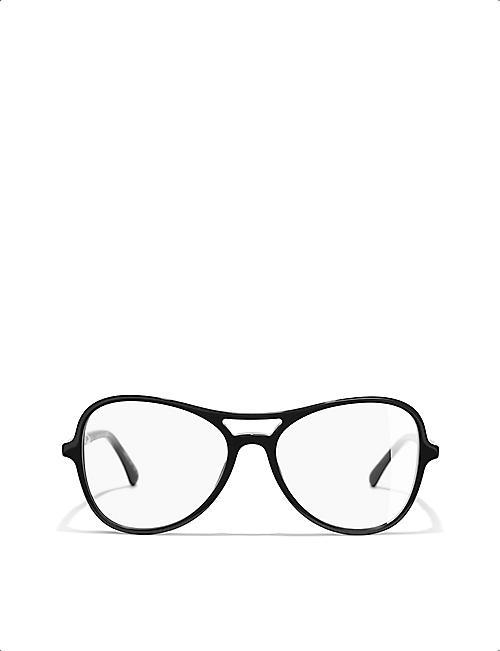 054bbdc0adf9 CHANEL CH3376H pilot-frame glasses
