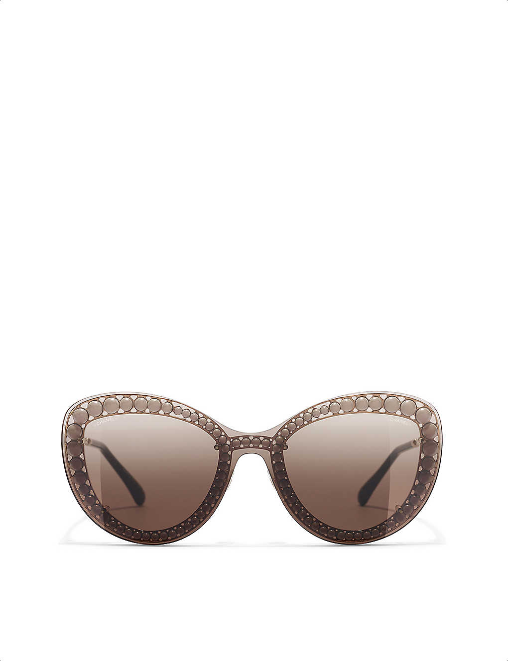 dbb3a9a487243 Butterfly sunglasses - Pale gold ...