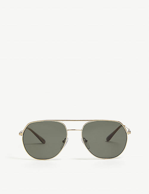 PRADA: Pr55US irregular-frame sunglasses