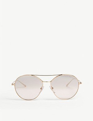PRADA Pr56u irregular-frame glasses