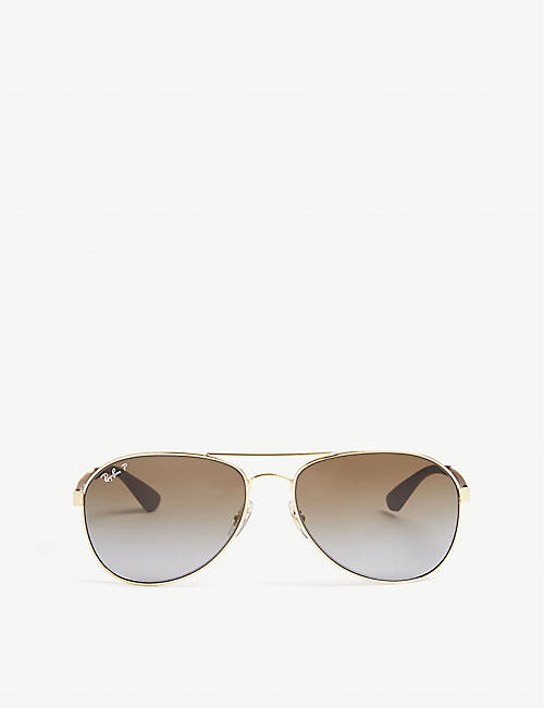 RAY-BAN: RB3549 pilot-frame sunglasses