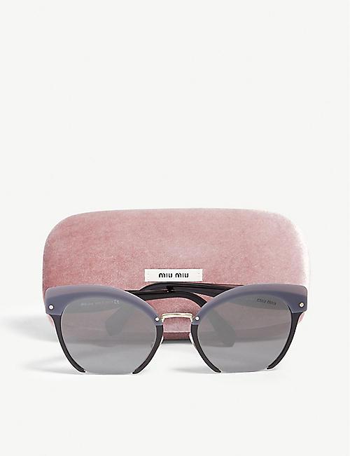 MIU MIU Metal square sunglasses e2730d1a83565