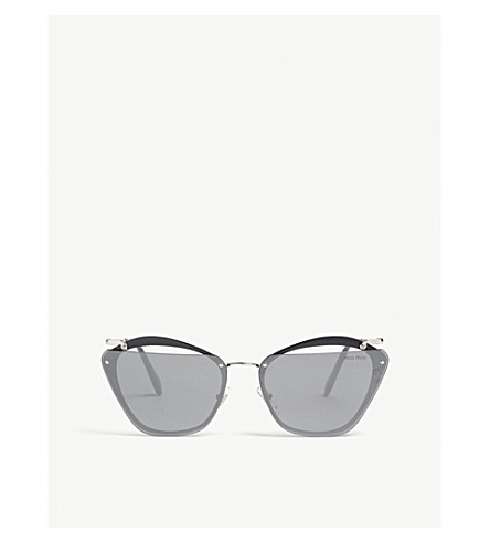 88fe33e5384c MIU MIU Mu54Ts irregular-frame sunglasses (Grey