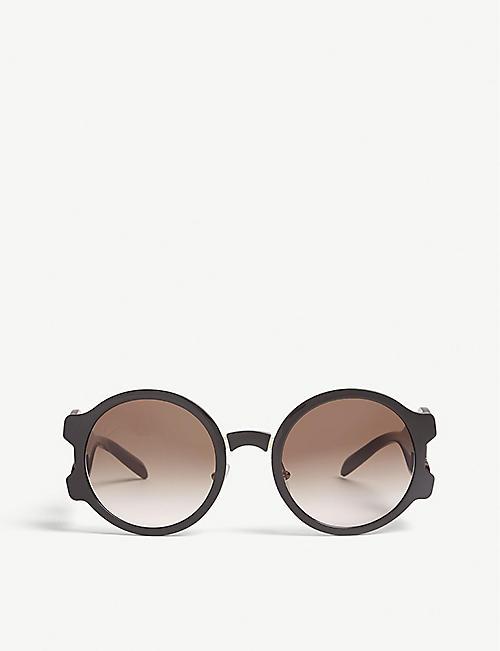 8a1397c7351 ... france prada pr13us oval frame sunglasses 85aeb d2997