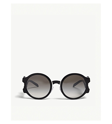 c01d7dee1a PRADA PR13Us oval-frame sunglasses (Black