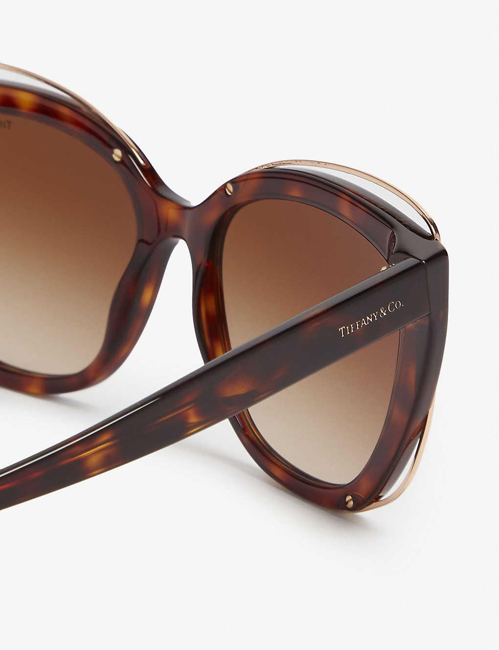 a4d77de3cf401 TIFFANY   CO - Tf4148 cat eye havana sunglasses