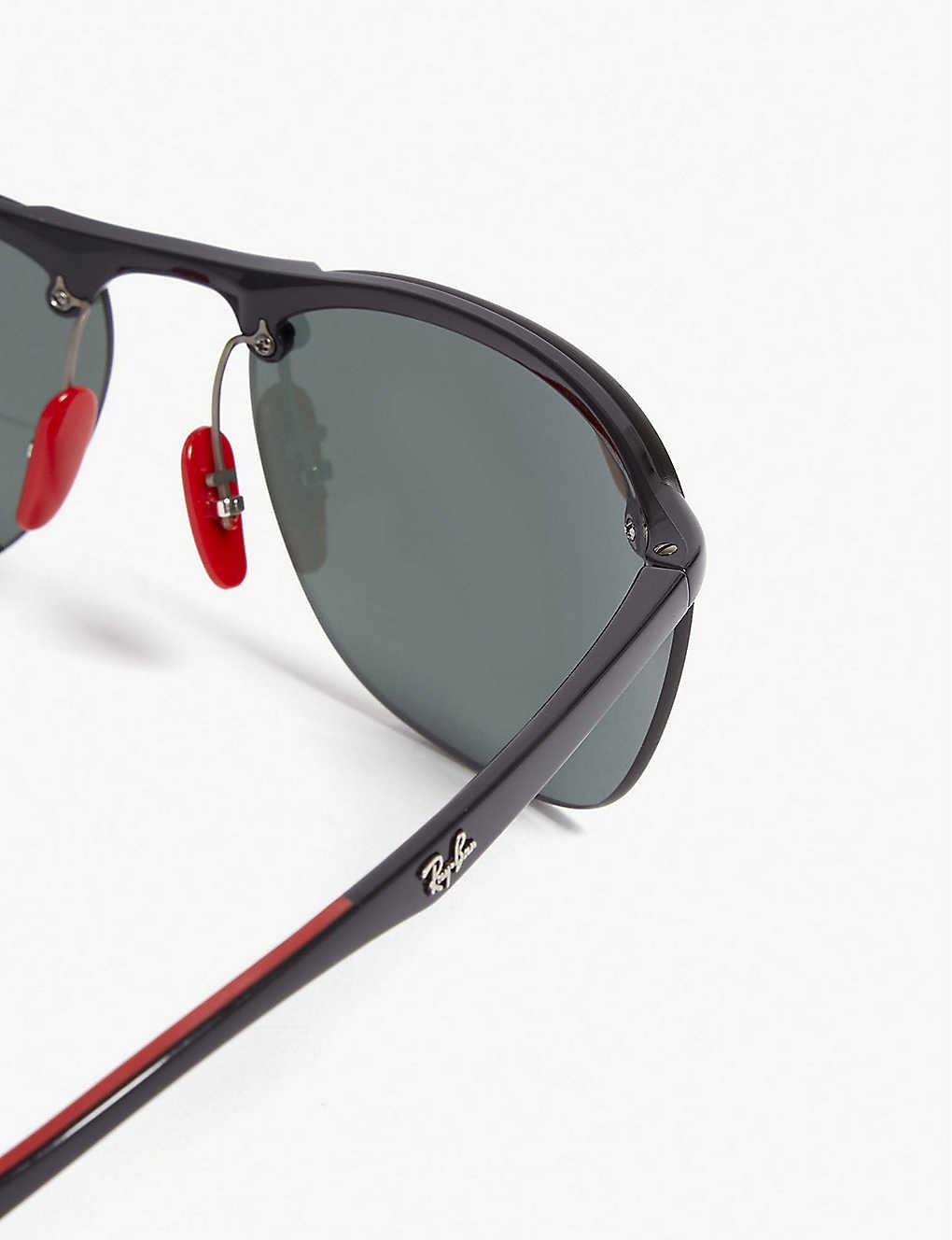 471f1753e8 ... RB4302 Ferrari rectangle-frame sunglasses - Black zoom