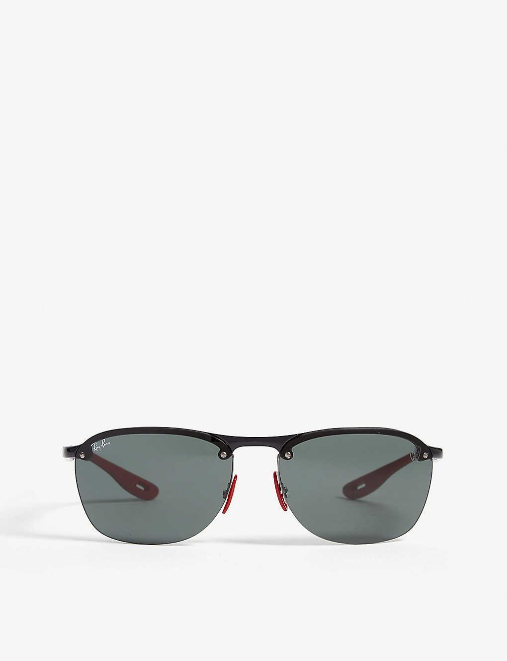 59d06aaba8 RB4302 Ferrari rectangle-frame sunglasses - Black ...