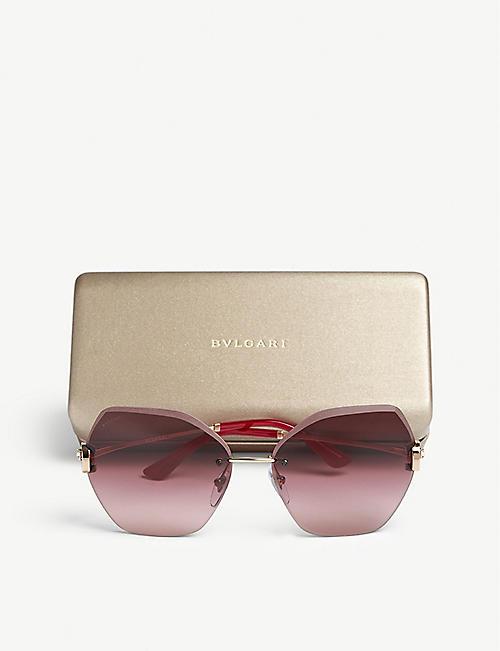 4bf4c3640b76d BVLGARI Bv6105b square-frame sunglasses