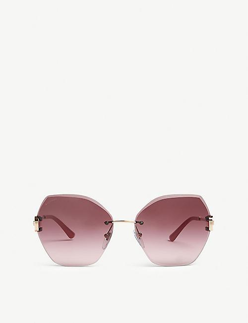 5f1883e1855 BVLGARI Bv6105b square-frame sunglasses