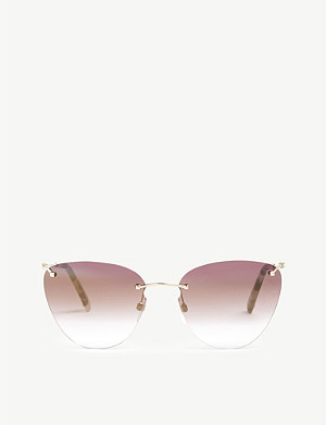 VALENTINO VA2022 frameless cat-eye sunglasses