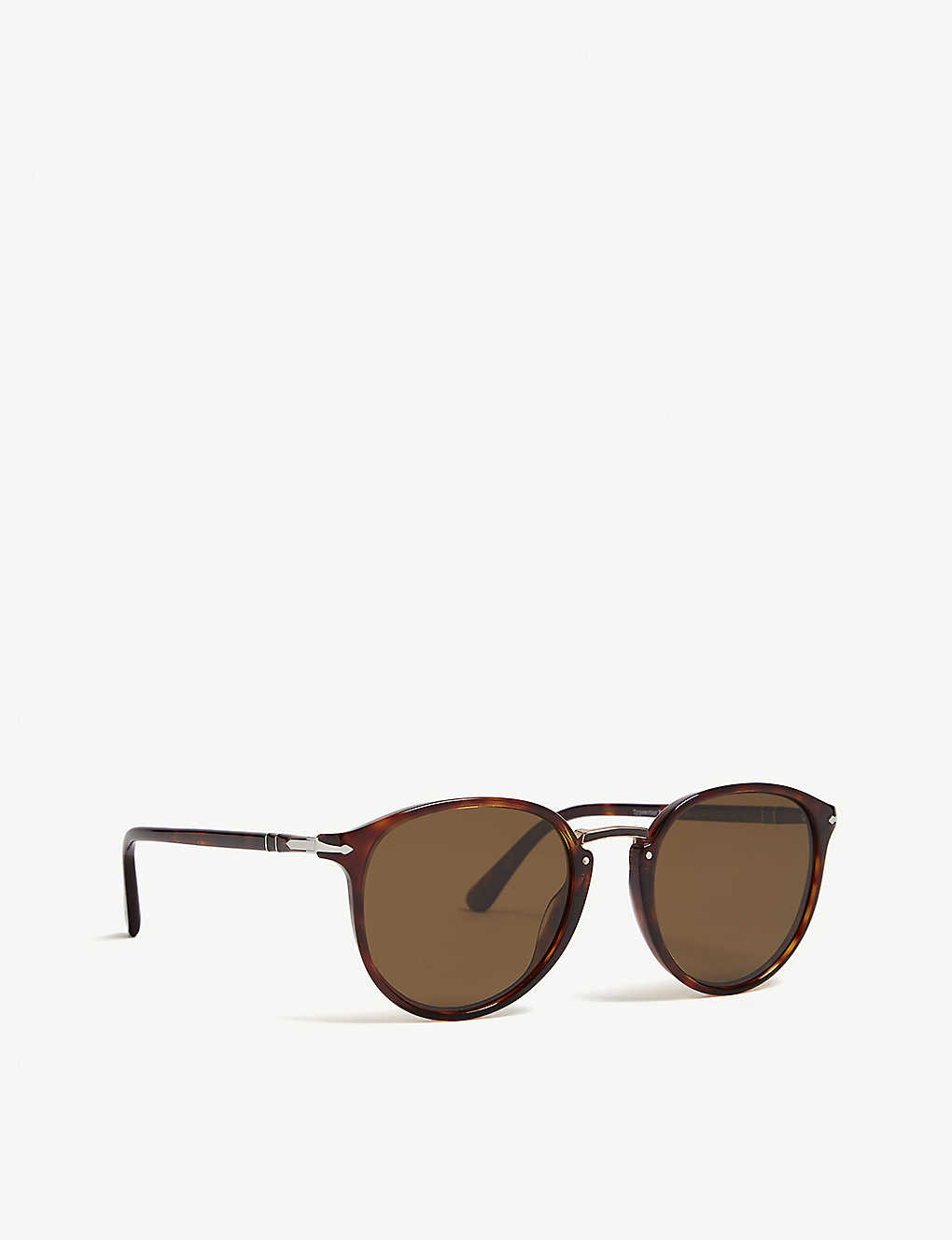 14e39c890d ... Po3210 Typewriter Edition round-frame sunglasses - Havana ...