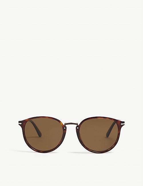 PERSOL: Po3210 Typewriter Edition round-frame sunglasses