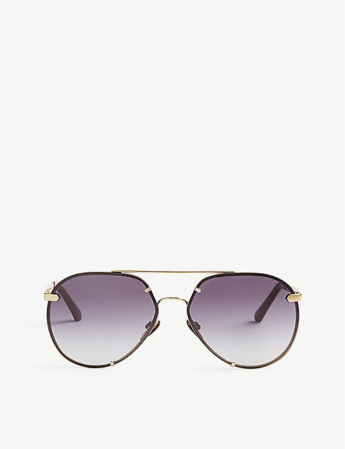 BURBERRY: B3099 pilot-frame sunglasses