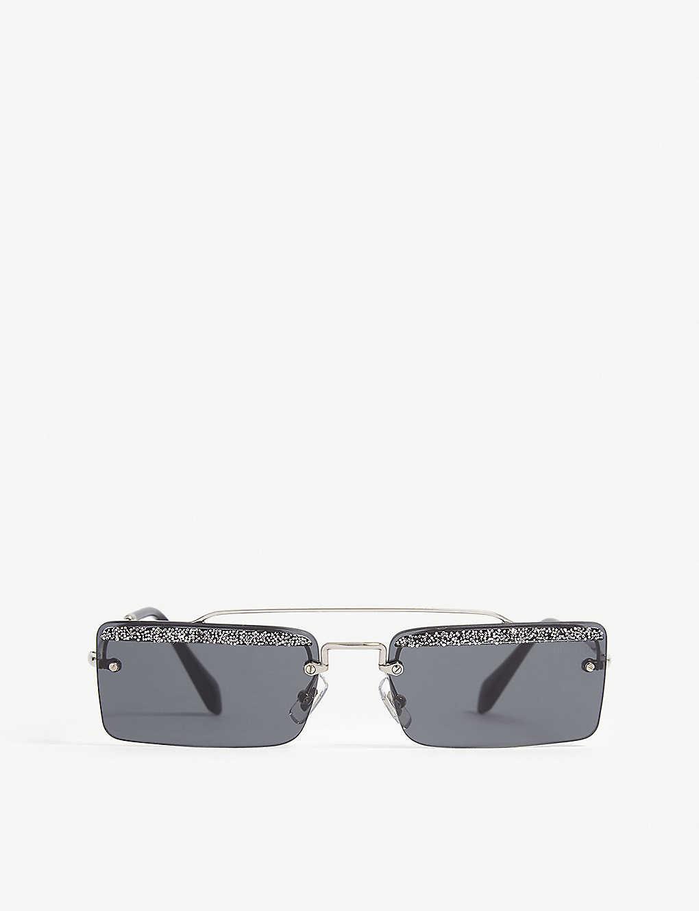 8397b4a81 MIU MIU - Mu59Ts rectangle-frame sunglasses | Selfridges.com