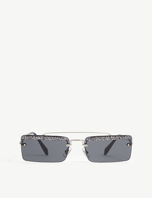 MIU MIU Mu59Ts rectangle-frame sunglasses