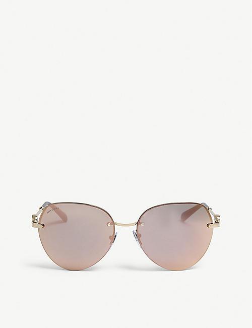 8107a4f74b9 BVLGARI BV6108 pilot-frame sunglasses