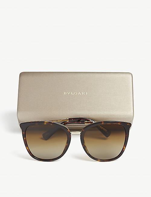 5a6f0950fb2 BVLGARI Havana Bv8205kb square-frame sunglasses · Quick Shop
