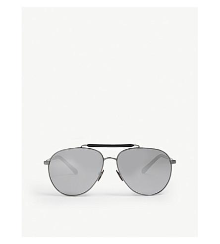 490d273844 BURBERRY - Top bar pilot-frame sunglasses
