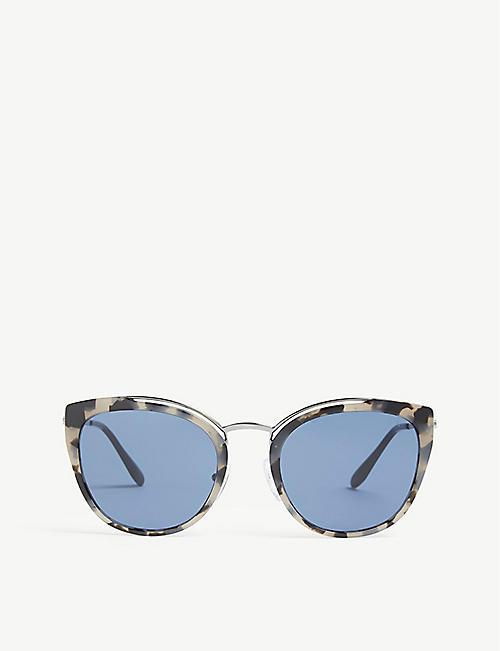 ce5ff53fe4f5 ... france prada cat eye sunglasses 98069 c1b95 france prada cat eye  sunglasses 98069 c1b95; order 2012 prada runway red cat eye amber crystal  ...