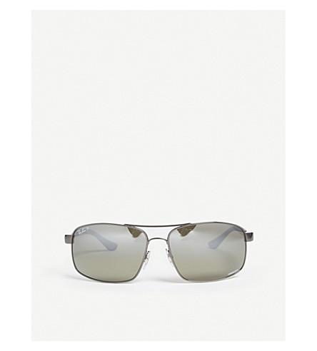 193b8f865f RAY-BAN Rb3604ch Chromance square-frame sunglasses (Gunmetal