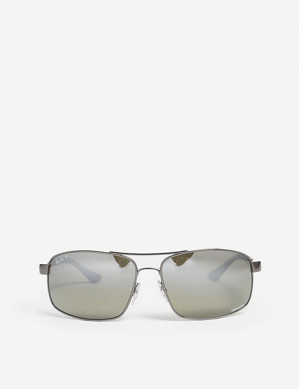 07d613fd97f2 RAY-BAN - Rb3604ch Chromance square-frame sunglasses | Selfridges.com