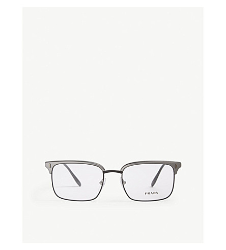 bd139dde26 ... PRADA PR55V square-frame glasses (Gunmetal. PreviousNext