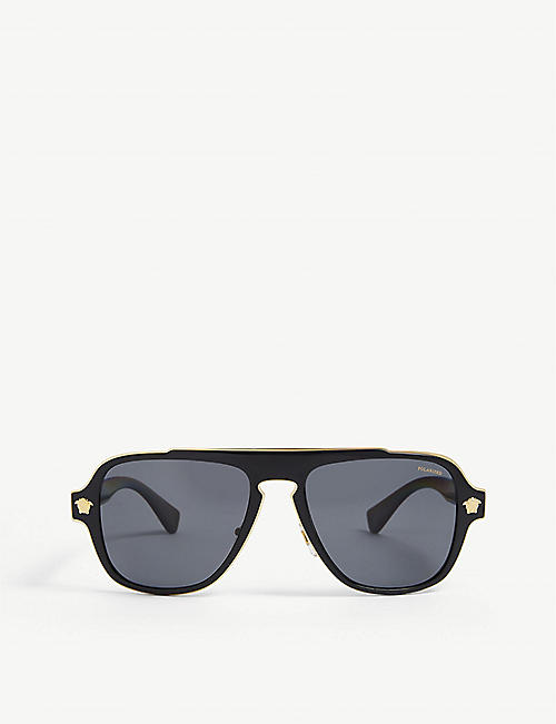 VERSACE: VE2199 square-framed metal sunglasses