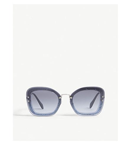 7b323e3ab441 MIU MIU - Mu02ts rectangle-frame sunglasses