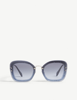 MIU MIU Mu02ts rectangle-frame sunglasses