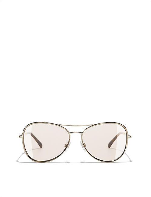 17b861492aeb CHANEL CH2181 pilot-frame glasses