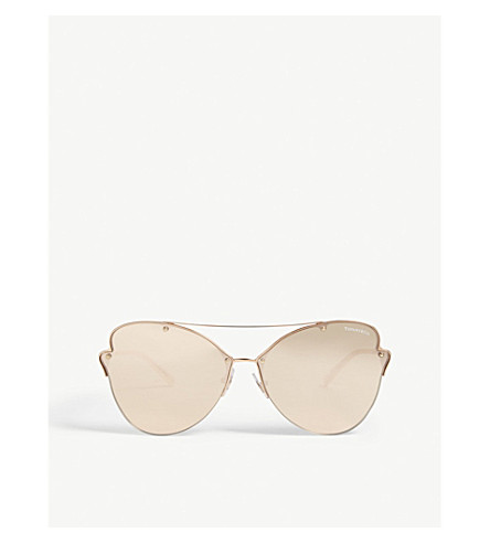 e12e74f21b3e TIFFANY & CO - Tf3063 butterfly-frame sunglasses | Selfridges.com