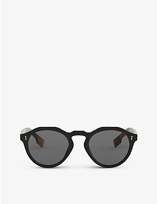 BURBERRY: BE4280 round-frame acetate sunglasses