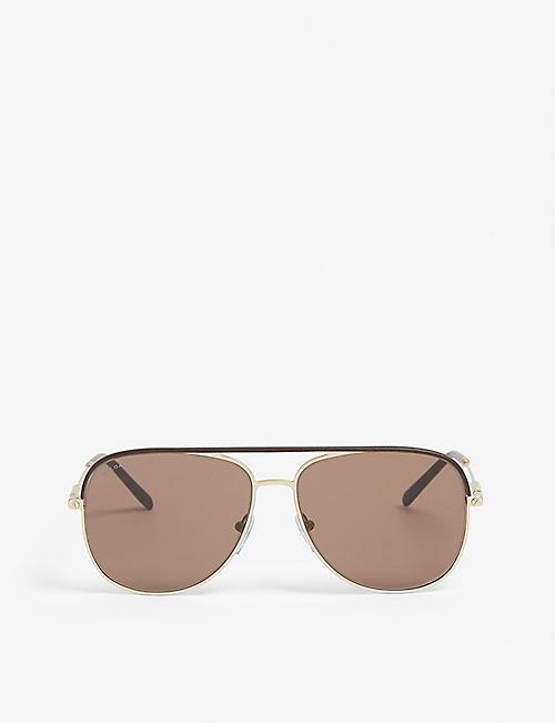 a0035c51896 BVLGARI Bv5047q pilot-frame sunglasses