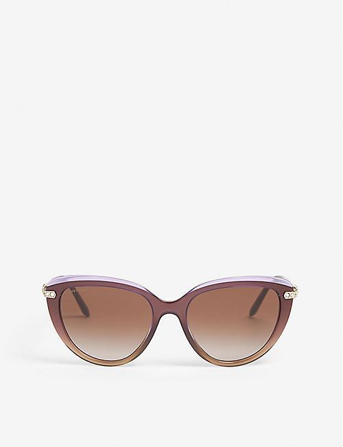 fb66d2dbcdb5 BVLGARI Bv8211b cat-eye sunglasses