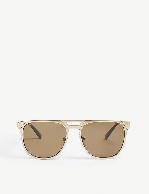 c3282c08537e BVLGARI Bv5048K pilot-frame polarised sunglasses