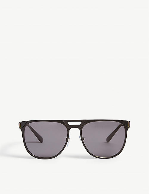 ec3257d41557 BVLGARI Bv5048k pilot-frame sunglasses