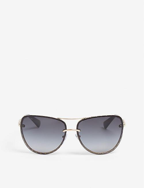 7e8bd7d329 BVLGARI - Serpenti pilot-frame sunglasses