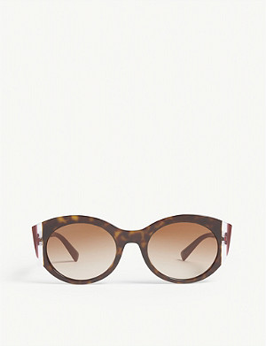 VALENTINO VA4039 cat-eye-frame Havana sunglasses